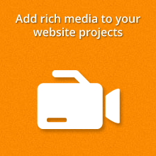 add rich media to your website projects