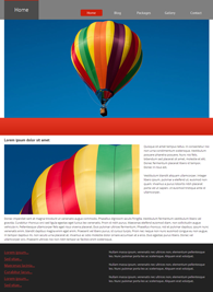 Balloon Ride - Website Design Template