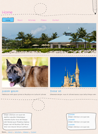 Cartoon - Website Design Template