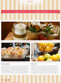 Ice Cream - Website Design Template