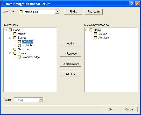 Custom navigation bar thesis