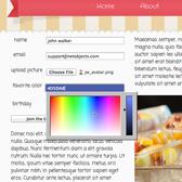 HTML5 Color Picker in Ice Cream Template