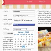 HTML5 Date Picker in Ice Cream Template