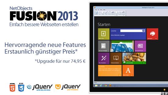 Wir stellen vor: NetObjects Fusion 2013