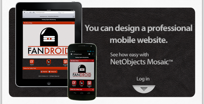 You can design a professional mobile web site with NetObjects Mosaic.